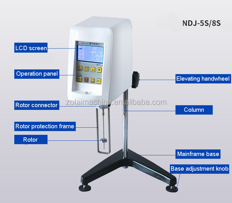 Digital Lab Liquid Brookfield Rotational Viscometer