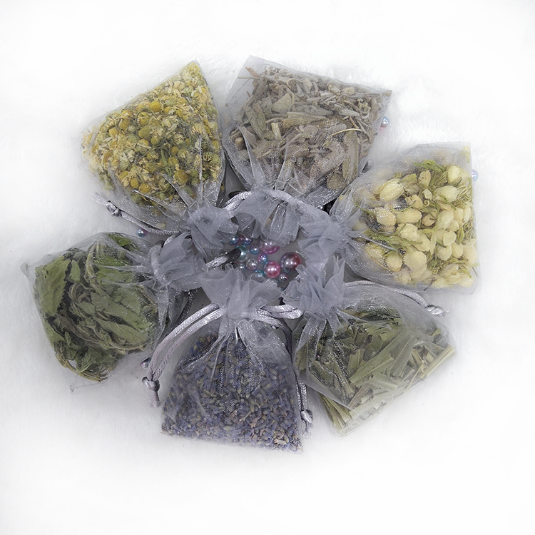 Best Selling china custom printing empty sachet seeds organza lavender pouch bags
