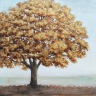 New Design 100% Hand Painted Contemporary Trees Canvas Oil Painting Manufacturer China