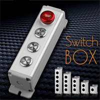 16mm/19mm/22mm waterproof Aluminium Alloy Metal Push Button Switch box with Outdoor power control Box