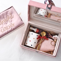 Cocostyles customized handmade elegant velvet box bath gift set with scarf for generous anniversary gift