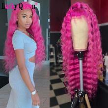 613 блонд бразильский глубокая волна 13х4 кружева парики Remy волосы 150% плотность кружева передние человеческие волосы парики Lucky парик королев...(Китай)