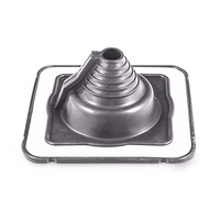 Retrofit203MM*203MM Custom Pipe Boot Rubber Vent Collar Silicone/EPDM Roof Flashing for 40-100MM Pipe