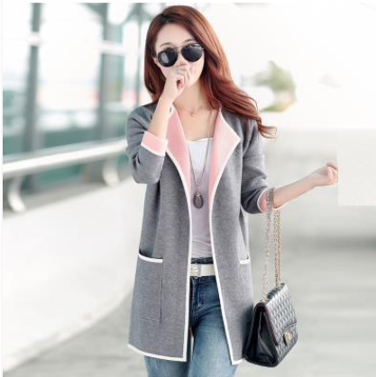 CA021A fashion 2019 Korean style autumn womens clothes plus size women clothing coat jacket cardigan ropa mujer