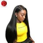 Wholesale Natural Silk Base Brazilian 100% Virgin Full Lace Wigs Lace Front Human Hair Wig