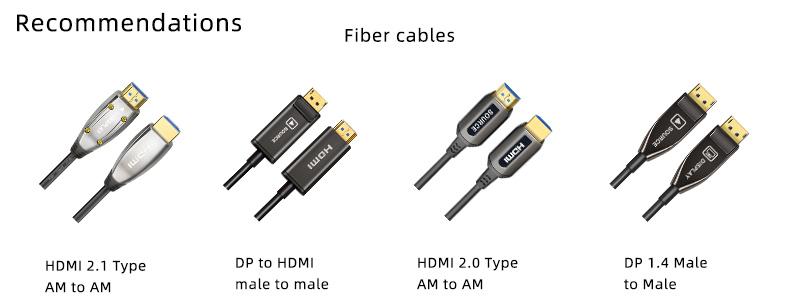 High speed 10M 1080p 4k 18Gbps HDMI 2,0 AOC optische faser kabel für home