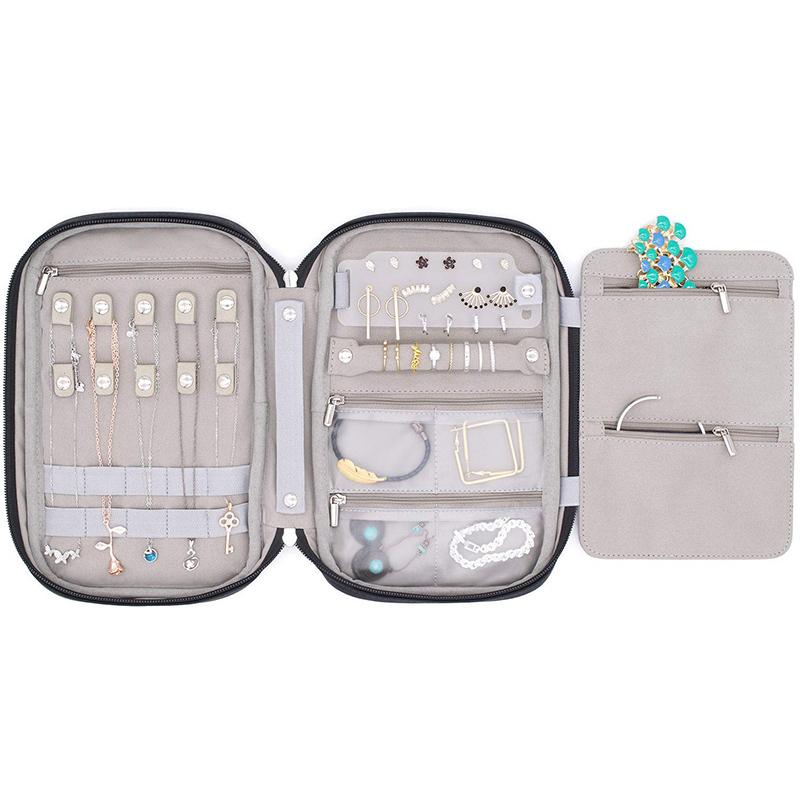 OEM Gift Bag Jewelry Fish Scale Pattern Travel Jewellery Organizer Box