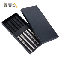 Novelty Chinese style Chopsticks 5 colors hollow stainless steel chopsticks