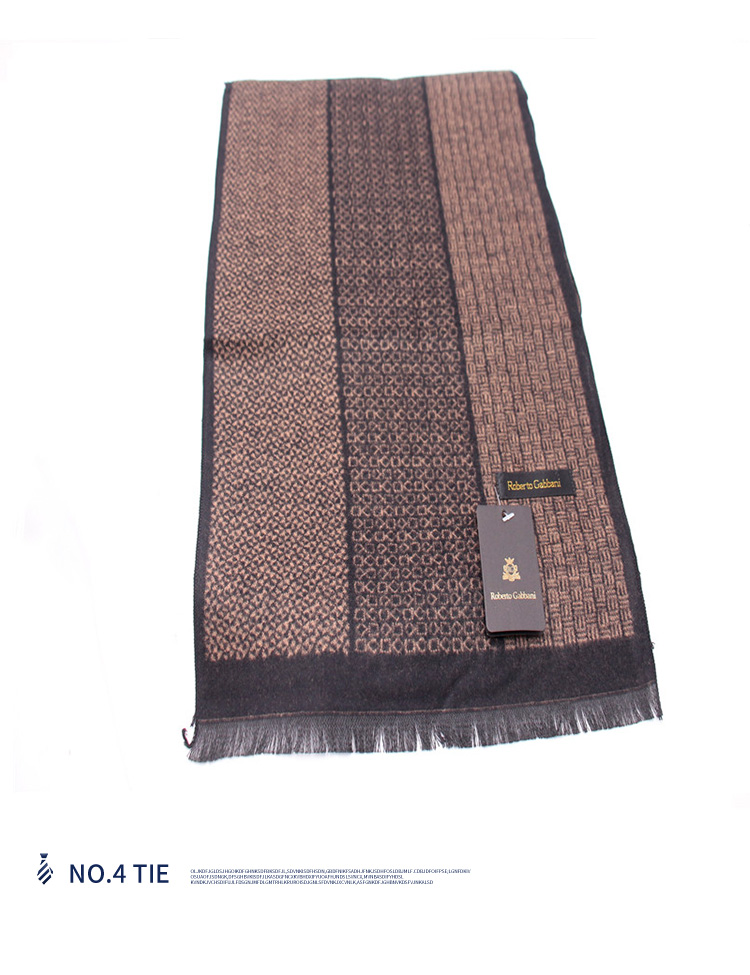 New hot sale wholesale custom winter elegant handsome men's black scarf pocket