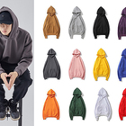 Hoodie Blank Blank Hoodies Wholesale Custom Crop Print Logo Hoodie Oversized Couple Pullover Polyester Blank Fitness Hoodie Men/women