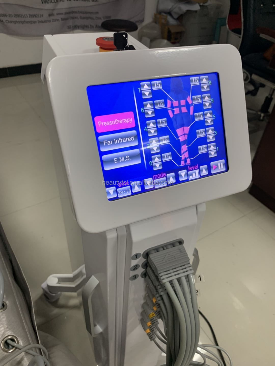 TSL-1120C pressotherapy 8 3 in 1 vertical EMS Infrared pressotherapy machine body massage pressotherapy products for lymph drainage.jpg