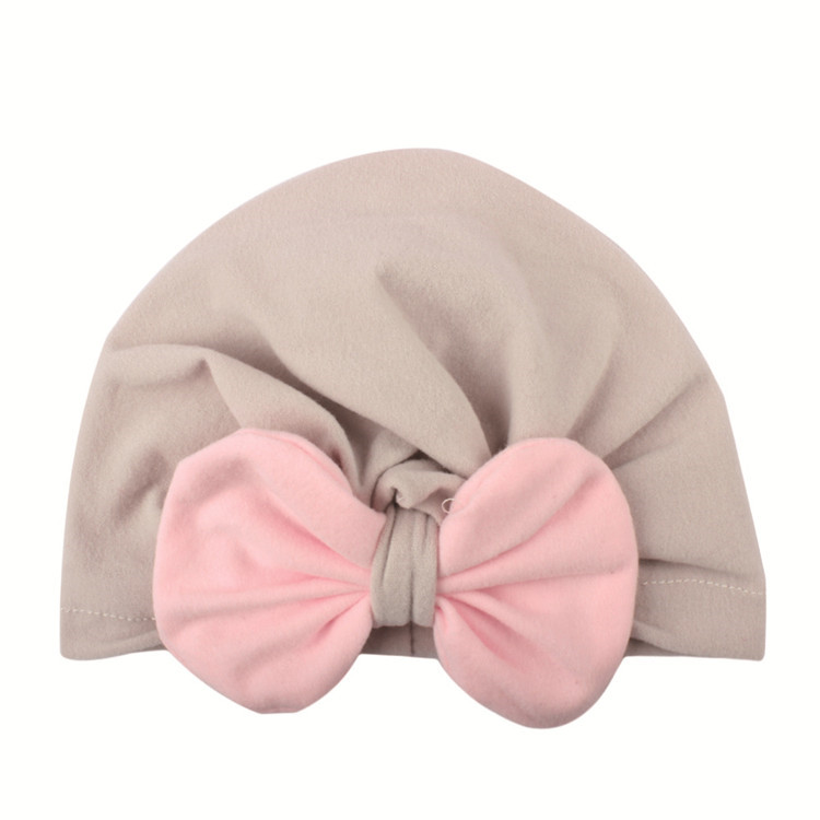 New styles babies turban lovely bow chapeau soft cotton kids hats