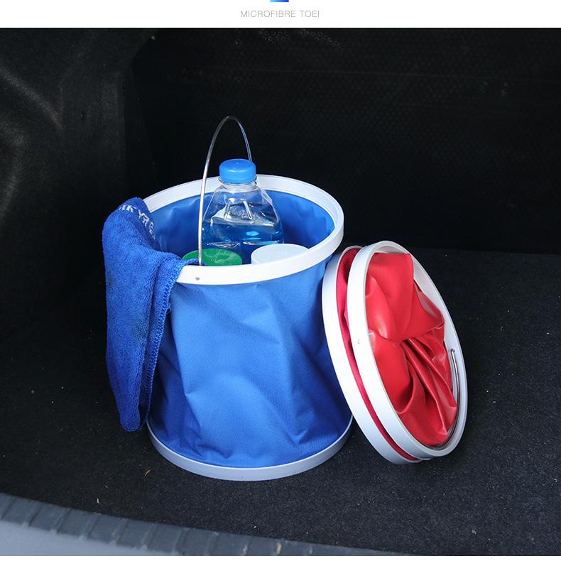 Oxford tuch Falten eimer mit PVC beschichtung Tragbare Falten Faltbare angeln eimer Multifunktions eimer
