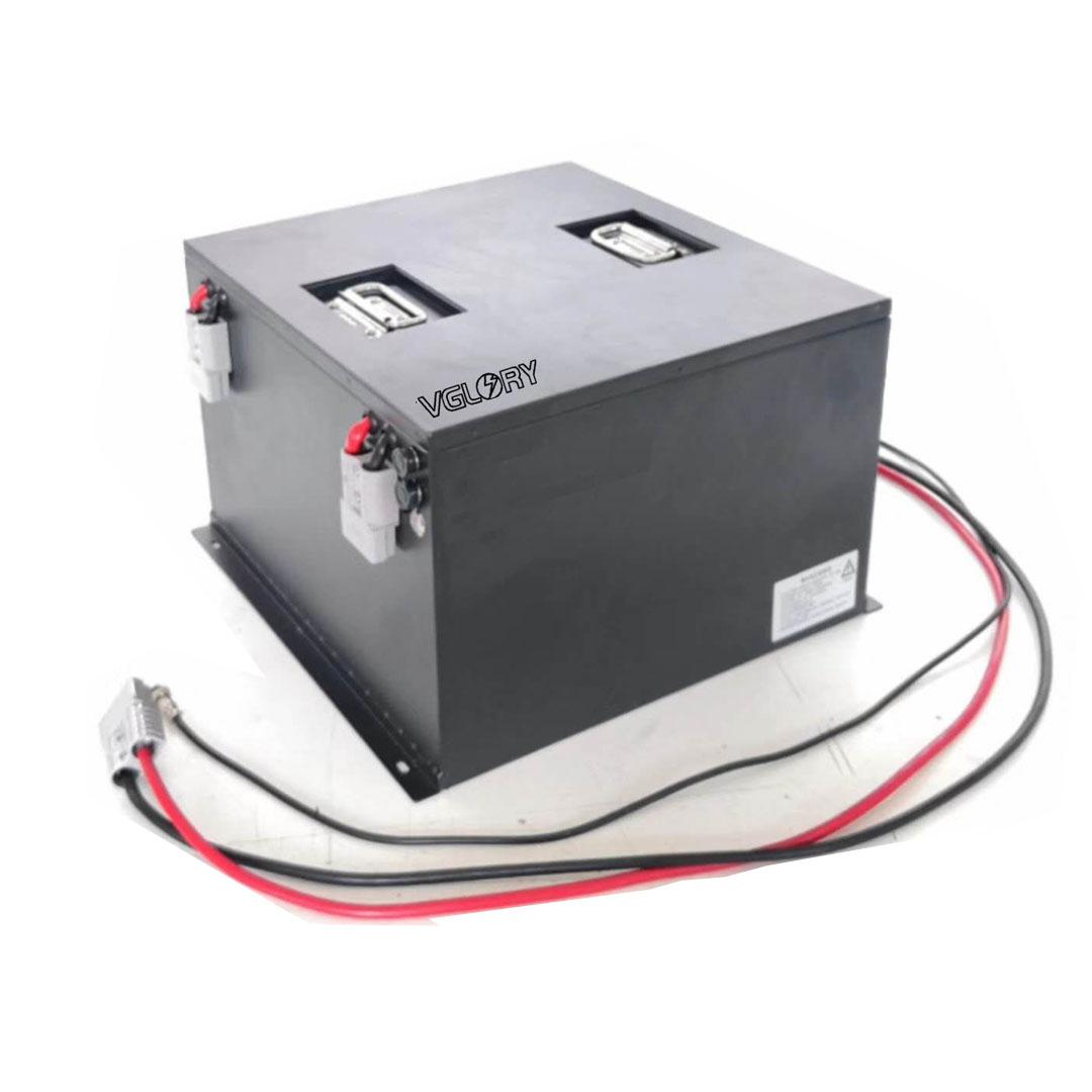 intelligent BMS balancing lithium agv battery 48v 100ah