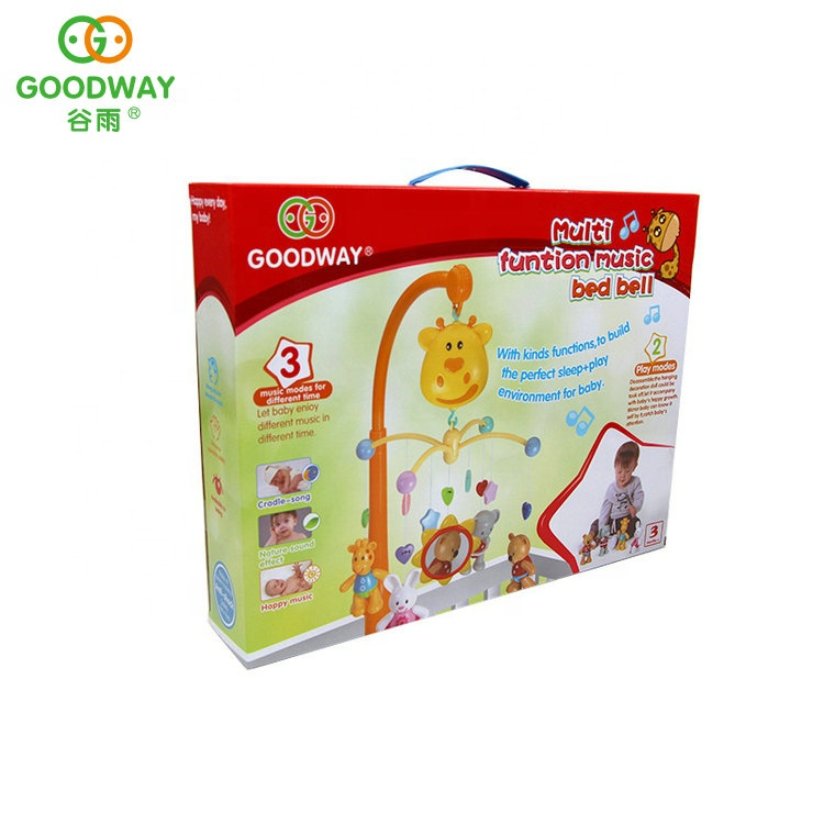 Hanging Mobile Crib Rattle Musical Toys Infant Baby Bed Bell