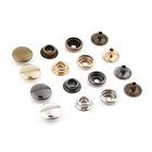 Wholesale Custom Eco Friendly Fashion Four Parts Brass Snap Button For Clothing