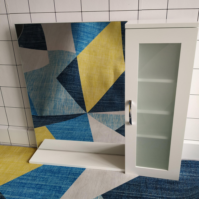 LW2059 Modern Bathroom Wall Hanging MDF Wood Mirror Cabinet