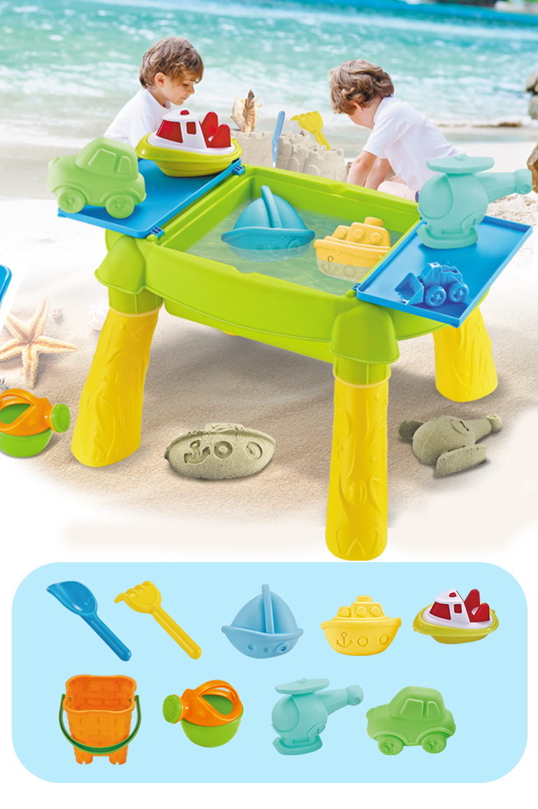 Summer plastic sand colorful beach educational children water table outdoor toy