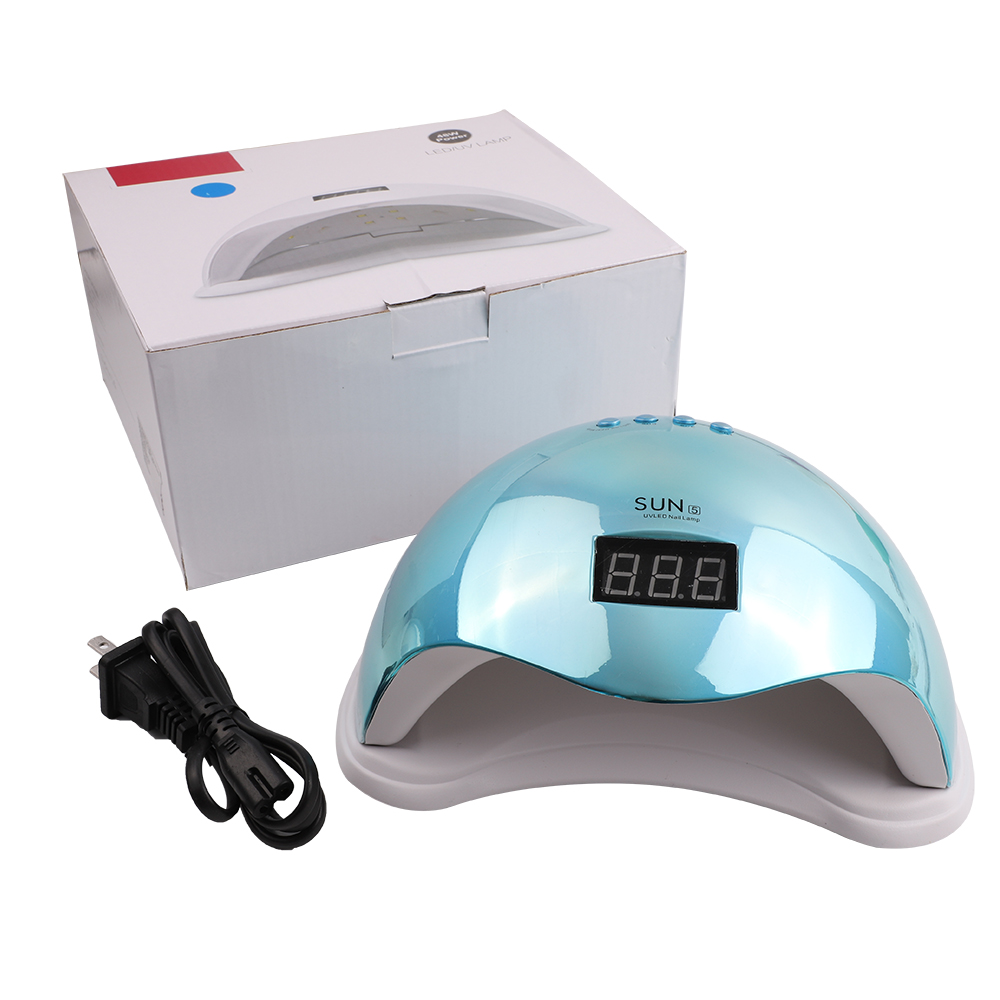 SUN5 Galvaniseren Spiegel Nail Art 48W Uv Led Nail Gel Polish Droger Manicure Machine Multifunctionele Sensor Lcd cure Nail Lamp