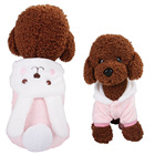Dress Dog Dresses Pet Autumn Winter Warm Clothes Cute Dress Up Coral Fleece Dog Clothes