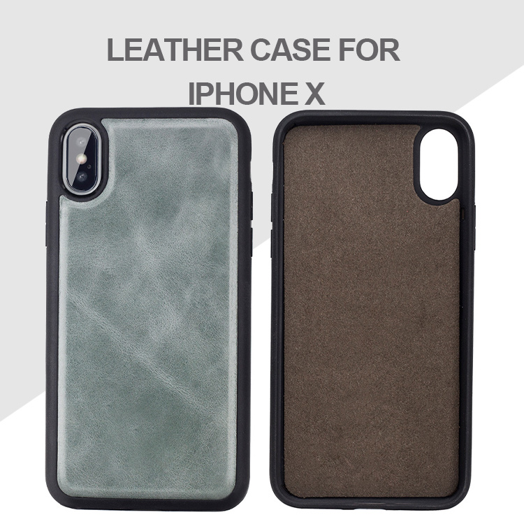 Customized christmas phone case genuine cow leather TPU back cover for iPhone X/XS