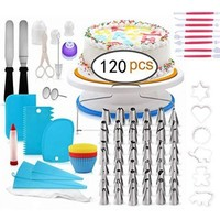 Wholesale Rotating Cake Decorating Supplies kit including turntable set Cake making Tools with Pastry Bag