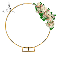 Round Metal Decoration Arch for Wedding Centerpiece Flower Stand for Wedding and Party