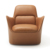 Comfortable upholstered PU leather casual brown sofa furniture low Armchairs