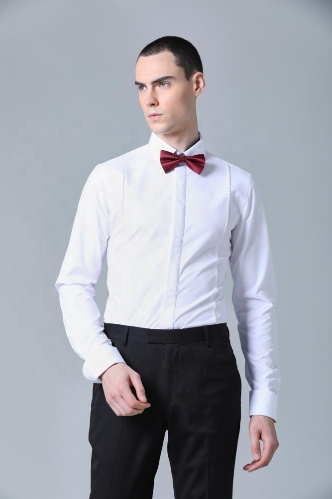 Domple Men Stylish Mandarin Collar Chinese Style Button Down Short Sleeve Shirts