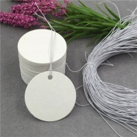 White Round Shape Paper Craft Handmade For Gifts Garment Accept Custom Logo Recycled Hang Tags