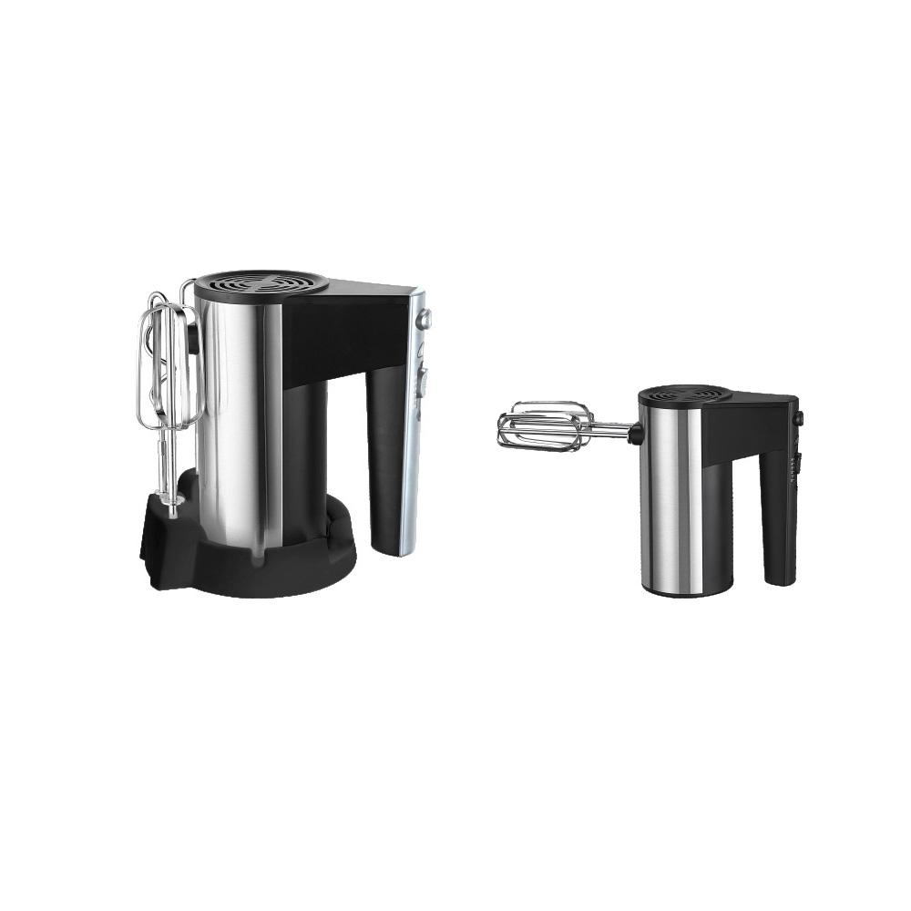 MIni Misturador Da Mão Branca Elétrica 300W,SURPEER Batedor de Mão, Base De Armazenamento, 5 velocidade Misturadores de Cozinha Whisk Hand Held