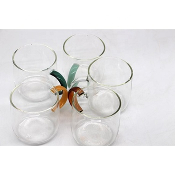 New arrival product hand made borosilicate single wall glass cup