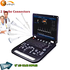 3D color Doppler 2 probe ports cheapest portable ultrasound machine