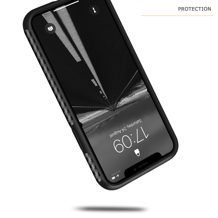Carbon fiber leather design slim soft TPU bumper premium hybrid cover capa de celular case texture phone for iphone x xs max xr