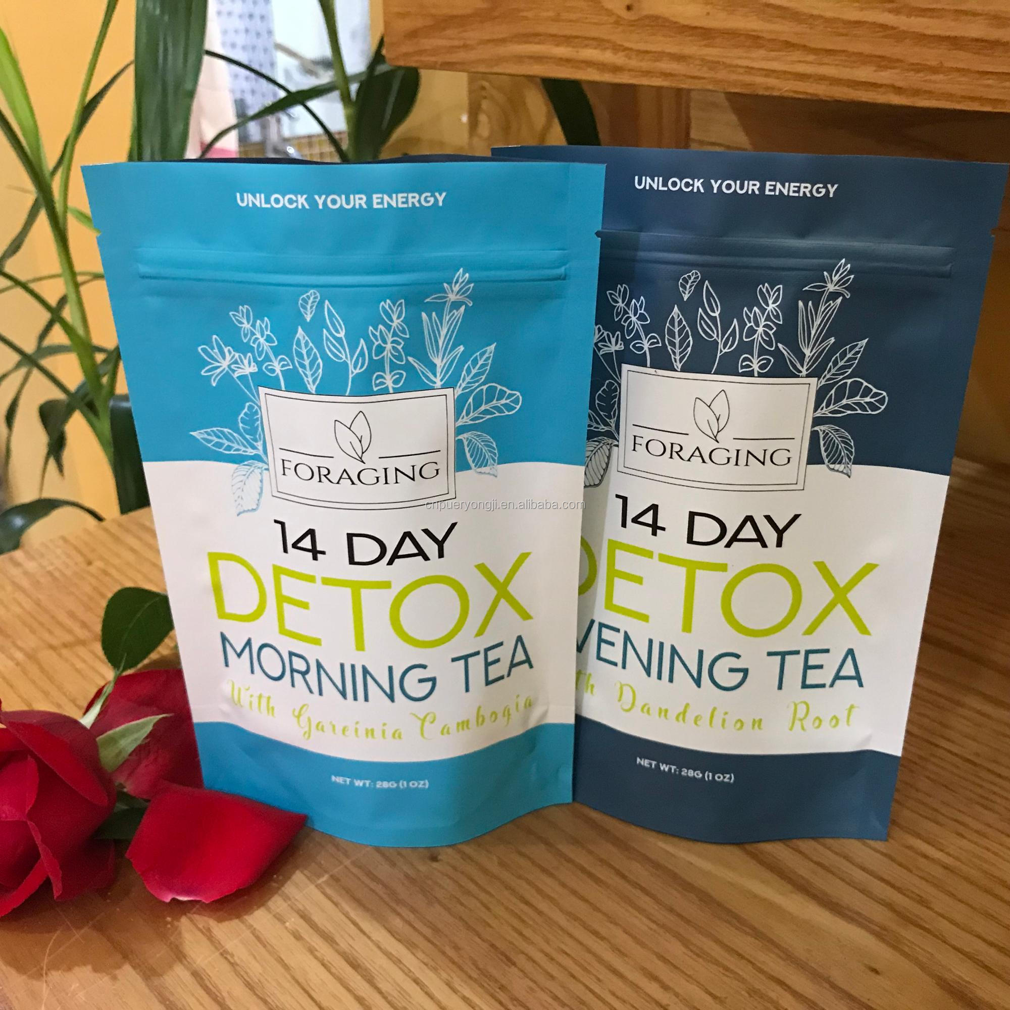 Flat Tummy Tea 4 Week All-Natural Detox Herbal Tea to Help with Bloating - 4uTea | 4uTea.com