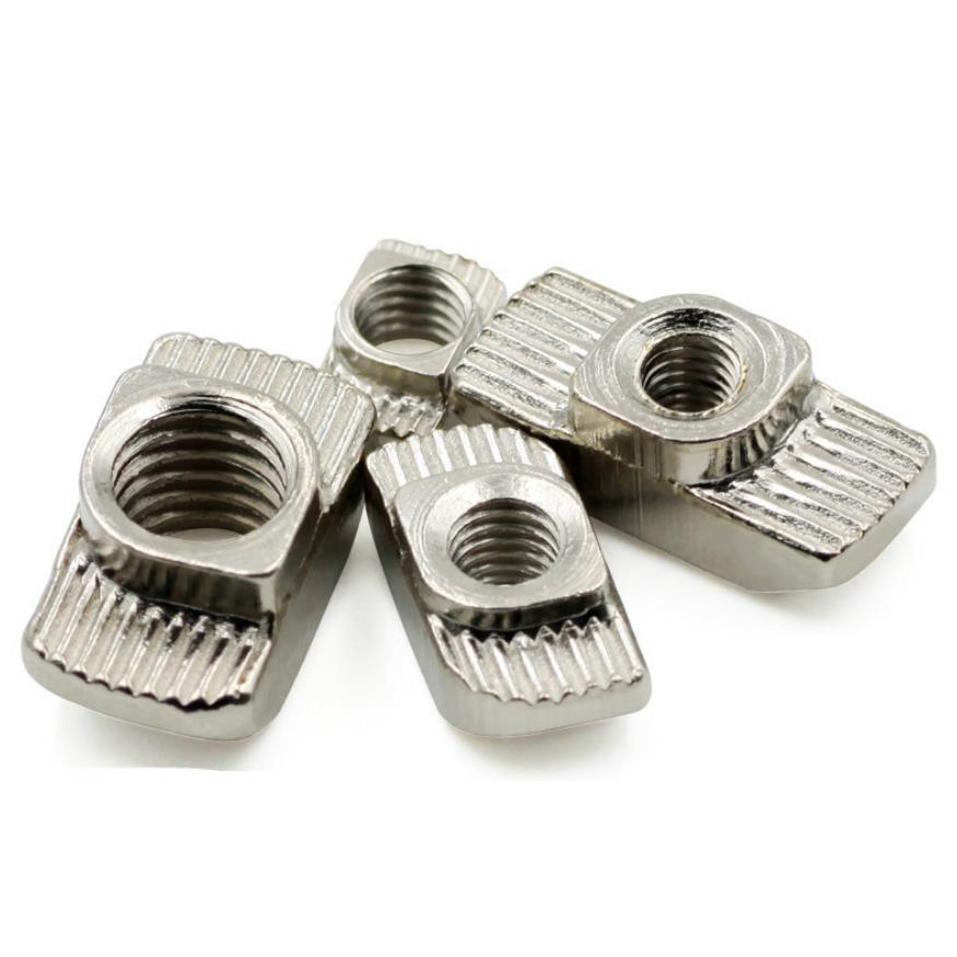 Stainless Steel Hammer Nut Slot 8 with Push Nuts / Slotted Nut Socket