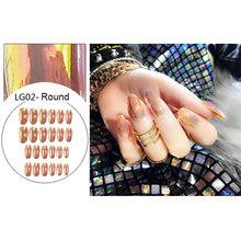 24 шт. французский стиль полное покрытие накладные ногти натуральный Классический светильник розовый поддельный инструмент для росписи ног...(Китай)