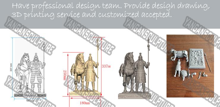 Açık bahçe heykel döküm büyük bronz koşu at heykeli