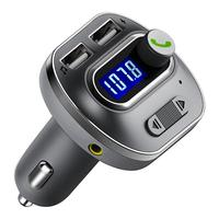 Car Bluetooth FM Transmitter, Wireless Bluetooth FM Radio Adapter with Hands Free Calls, 2 USB Ports