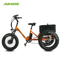 "AMS-TDE-TC foldable 20"" 48v 750w fat tire electric tricycle"