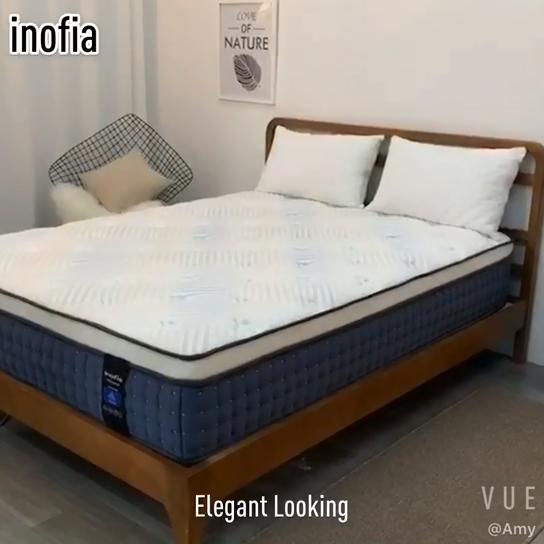 Inofia 12 インチホテル使用クイーンサイズポケット春低反発マットレスボックス内