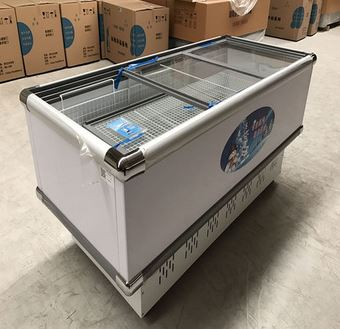 디스플레이 냉동고 유리 도어 미니 디스플레이 냉동고 강직한 상업적인 냉장고