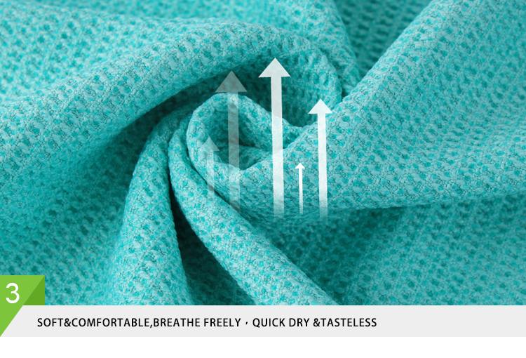 Вафельное быстросохнущее пользовательское Производство Йога полотенце