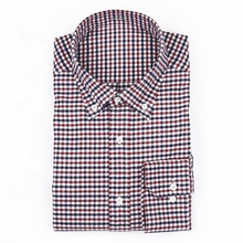 Geruite katoen MTM green grid single-side geborsteld casual <span class=keywords><strong>shirt</strong></span> lange mouw heren <span class=keywords><strong>shirt</strong></span>