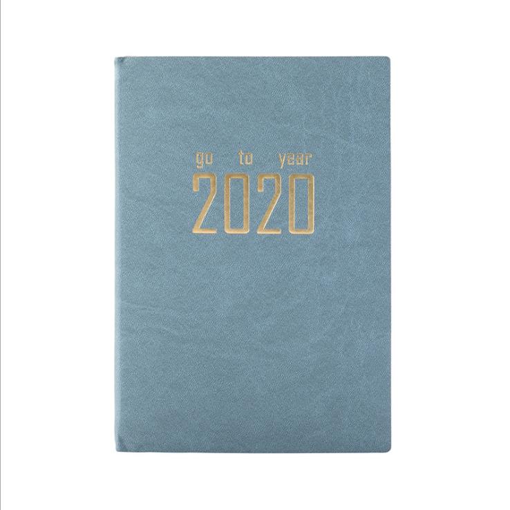 Personalizado notebook dairy com bloqueio diário planejador 2020 caderno semanal em branco com powerbank carregador sem fio cuadernos