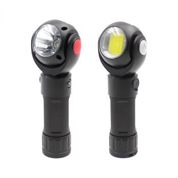 Rechargeable Aluminum Alloy T6 COB LED Torch With Magnet Rotatable Flashlight