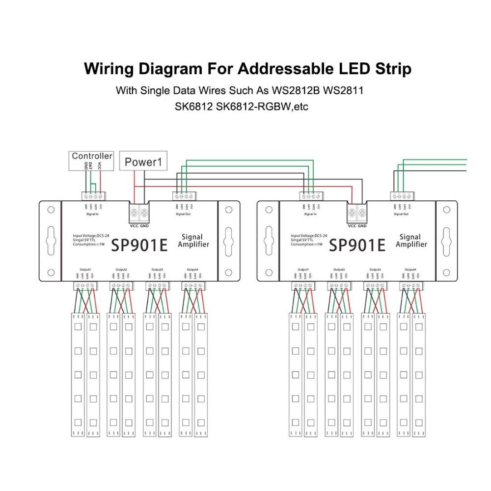 Sp901e Ws2812 Apa102 Sk6812 Pixel Led Strip Ttl Spi