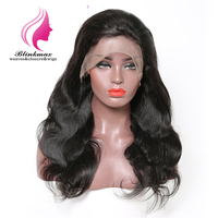 Blinkmax Nice Quality Body Wave Human Hair 150% Density Lace Frontal Wig Brazilian Natural Color Remy Human Hair Wig