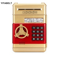 Electronic Piggy Bank ATM Bank Safe Box Auto Scroll Paper Banknote Gift For Kids