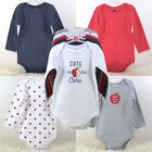 Romper Baby European And American Foreign Trade Triangle Climbing Long Sleeve 5-piece Set Larger Size Romper For Baby
